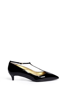 GIUSEPPE ZANOTTI DESIGN 'Yvette' patent leather T-strap pumps