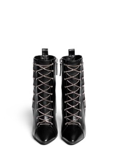 GIUSEPPE ZANOTTI DESIGN 'Olinda' chain lace leather boots