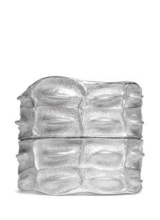 LYNN BANCrocodile silver cuff