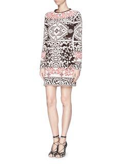 EMILIO PUCCIMohair-wool intarsia sweater dress