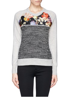 J. CREWMerino wool mixed media sweater