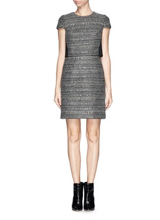 TORY BURCH 'Deandra' overlay tweed dress