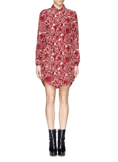 TORY BURCH 'Cora' floral pleat shirt dress