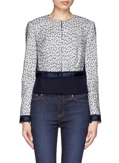 TORY BURCH 'Lucille' tweed crepe jacket