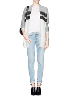 VINCE Wool-cashmere open front cardigan