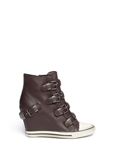 ASH 'Ultra' leather wedge sneakers
