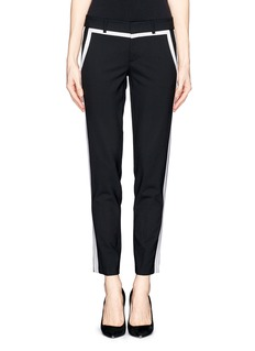 VINCE Tuxedo stripe cropped wool pants