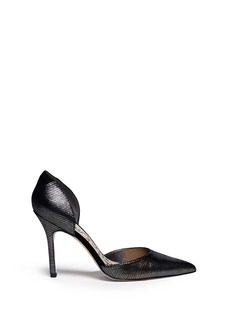 SAM EDELMAN'Delilah' textured-glossy leather pumps