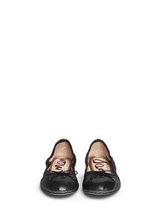 SAM EDELMAN'Felicia' textured-glossy leather flats