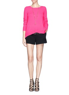 DIANE VON FURSTENBERG Rib back panel cashmere sweater