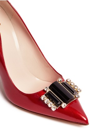 Detail View - Click To Enlarge - Kate Spade - 'Laylee' jewel patent leather pumps