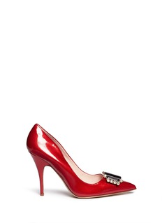 KATE SPADE 'Laylee' jewel patent leather pumps