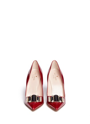 Figure View - Click To Enlarge - Kate Spade - 'Laylee' jewel patent leather pumps