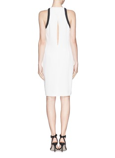 HELMUT LANG Contrast trim sleeveless dress