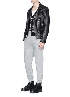 Lanvin Icon appliqué bonded jersey sweatpants