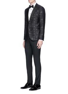 Lanvin Contrast button faille tuxedo shirt