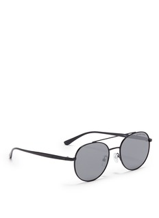 Michael Kors 'Lon' metal round aviator sunglasses