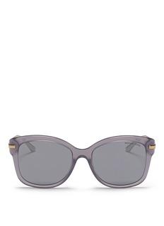Michael Kors'Lia' metal temple acetate square sunglasses