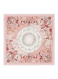 Valentino'Jungle of Delight' print silk twill scarf