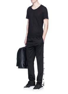 Ports 1961Button outseam pintucked jogging pants
