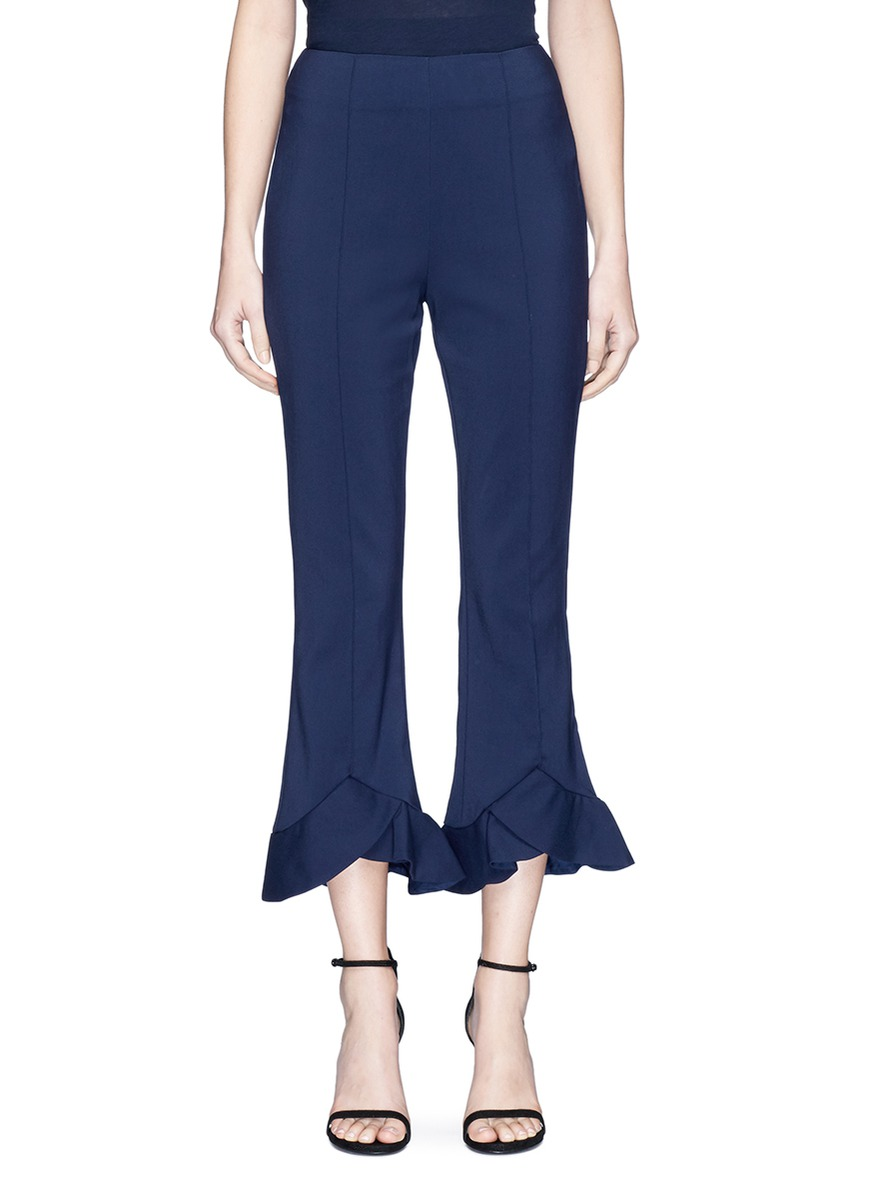 First Impression ruffle cuff pants by C/Meo Collective