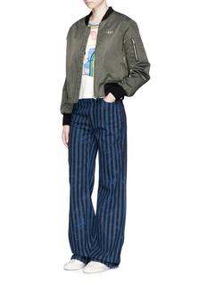 Marc JacobsRainbow stripe satin appliqué T-shirt