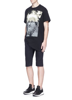 Neil Barrett'Maximvs Einstein' hybrid print T-shirt