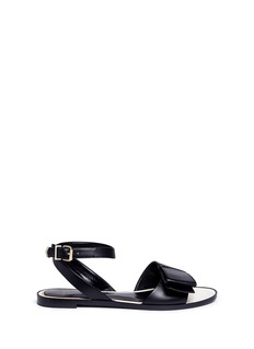 Lanvin Bow band ankle strap leather sandals