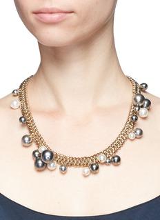 Lanvin'Perles' Swarovski pearl cluster chain necklace