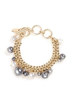 LANVIN玻璃珍珠坠饰手链
