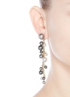 Lanvin 'Perles' Swarovski crystal chain drop earrings