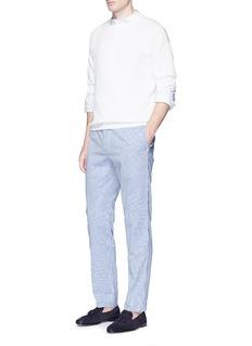 CamoshitaStripe cotton-silk seersucker pants