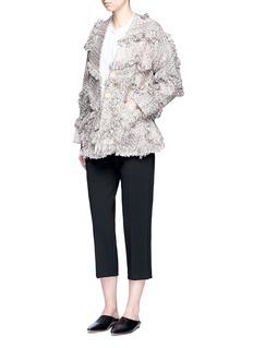 Xu Zhi'Braid' frayed trim coat