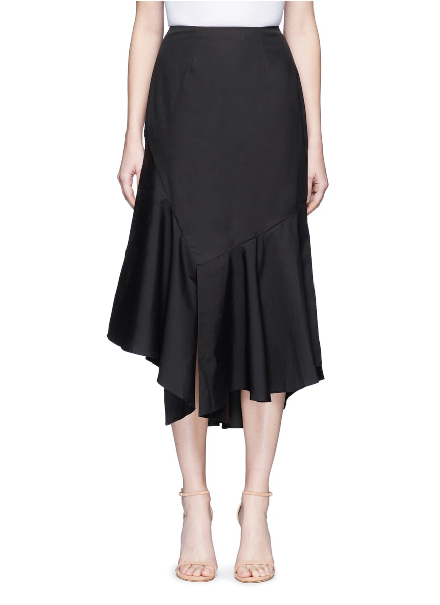 Into You asymmetric ruffle skirt by C/Meo Collective