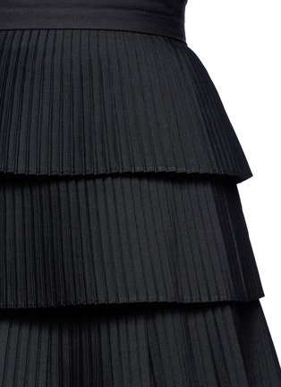 Detail View - Click To Enlarge - C/Meo Collective  - 'Never Mind' tiered pleat mini skirt