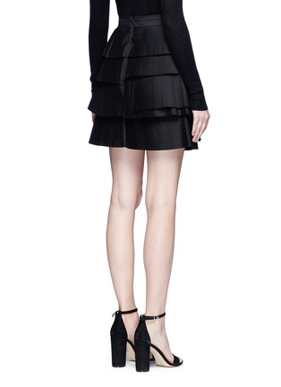 Back View - Click To Enlarge - C/Meo Collective  - 'Never Mind' tiered pleat mini skirt
