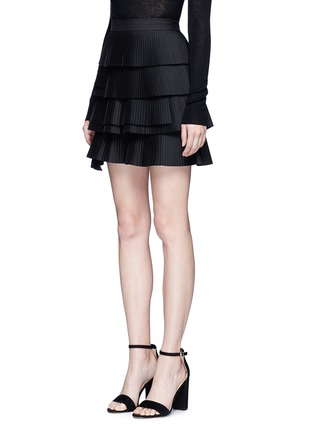 Front View - Click To Enlarge - C/Meo Collective  - 'Never Mind' tiered pleat mini skirt