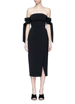 Main View - Click To Enlarge - C/Meo Collective  - 'Charged Up' off-shoulder midi dress