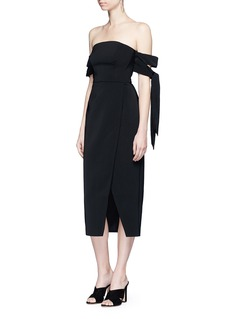 C/Meo Collective 'Charged Up' off-shoulder midi dress