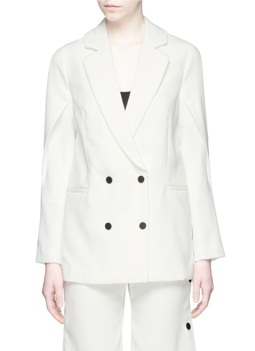 Dream Space slit sleeve double breasted jacket by C/Meo Collective