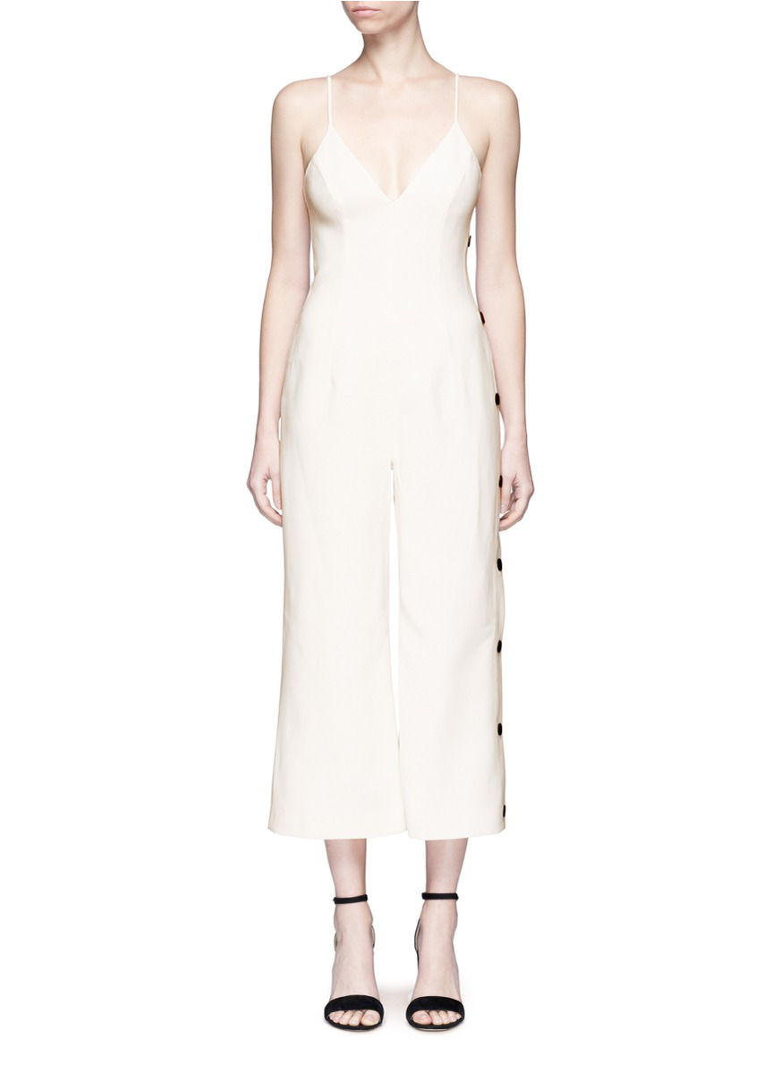 Dream Space V-neck jumpsuit by C/Meo Collective