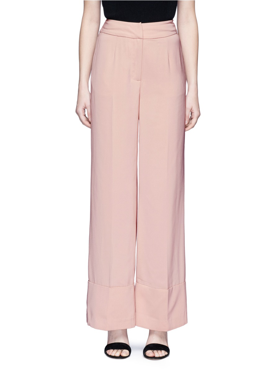 Love Lost wide leg crepe pants by C/Meo Collective