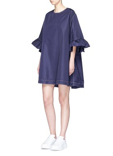 Xiao Li Ruffle sleeve oversized dress