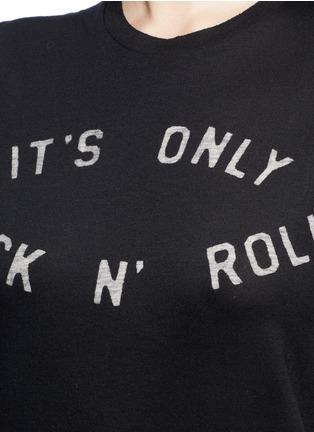 Detail View - Click To Enlarge - Zoe Karssen - 'Rock 'n Roll' slogan print cotton-modal T-shirt