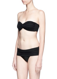 Norma Kamali 'Johnny D' twist front shirred bikini top