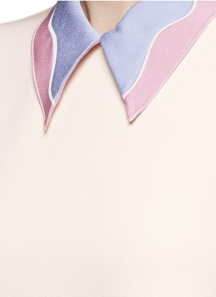 Detail View - Click To Enlarge - Roksanda - 'Jessa' colourblock collar gathered crepe dress