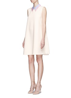 Roksanda 'Jessa' colourblock collar gathered crepe dress