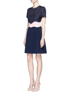 Roksanda 'Aublin' scalloped panel cady dress