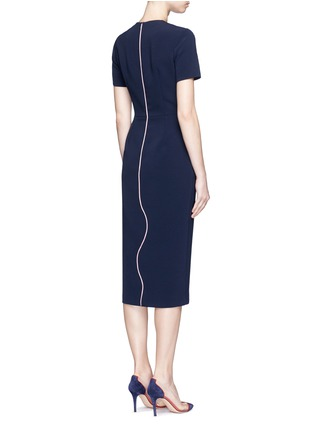 Back View - Click To Enlarge - Roksanda - 'Sabra' wavy trim cady dress
