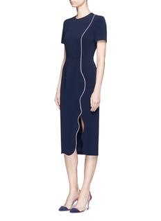 Roksanda'Sabra' wavy trim cady dress